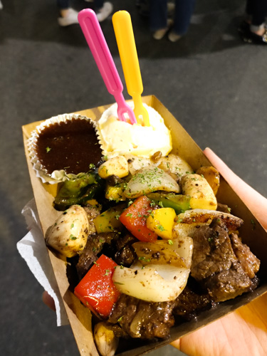 Stir-fry platter dish at Seomun