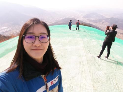 Paragliding - selfie time!