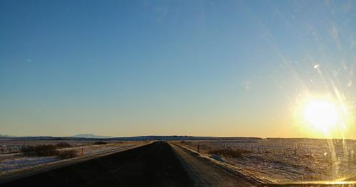 Iceland Winter Drive - Sun
