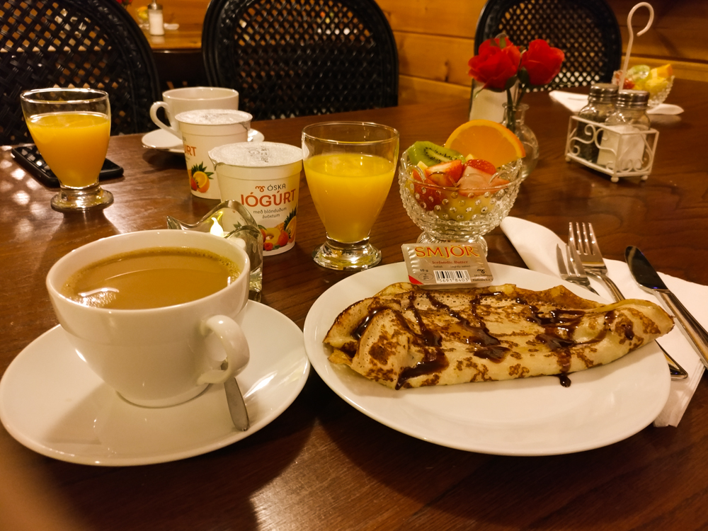 Breakfast at Guesthouse Fagrilundur