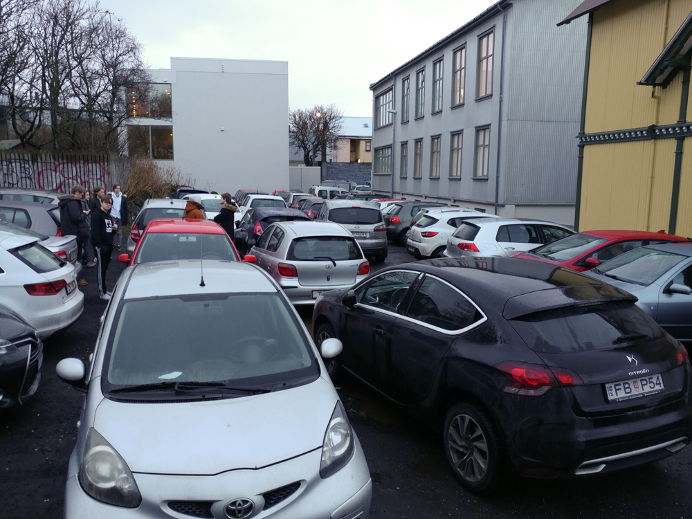 Carpark at School - Reykjavik