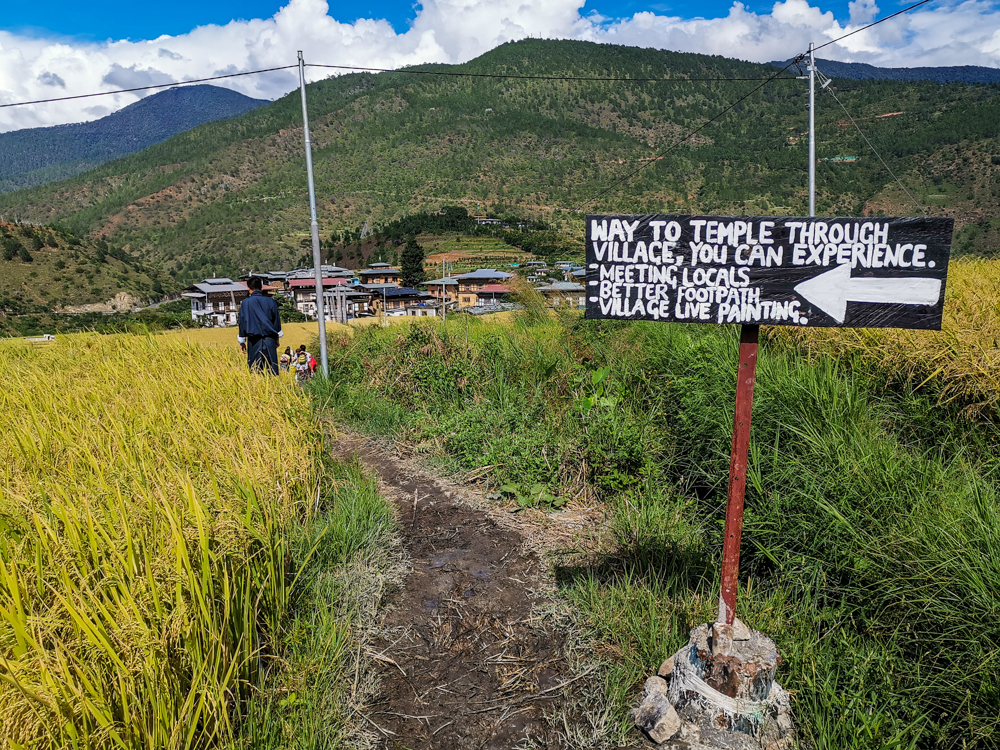 Punakha - Way to Mad Monk Temple - Chimi Lhakhang
