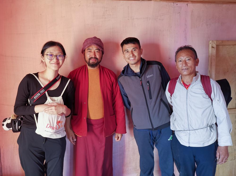 Me, Sonam, Namgay, Uncle Sangay