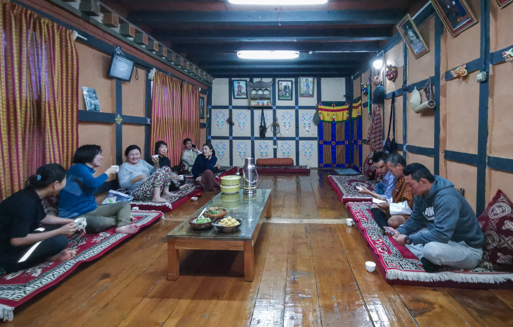 Dinner at Local Bhutanese Home
